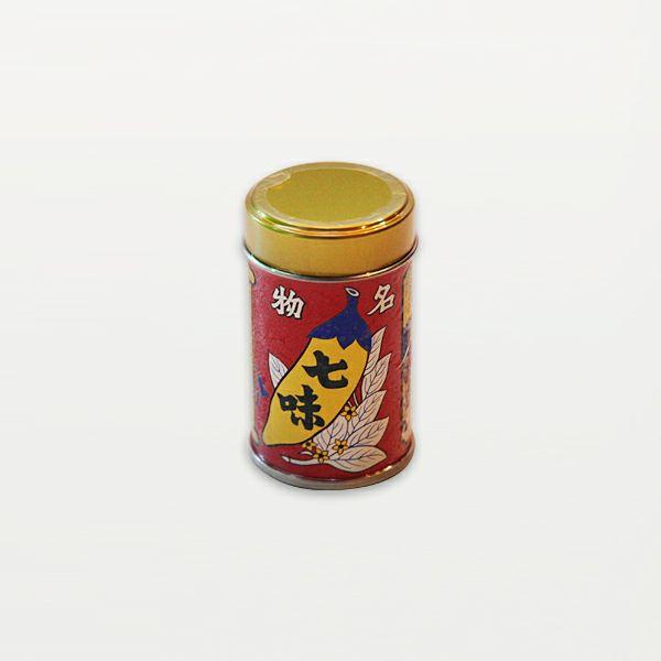 八幡屋磯五郎 七味唐辛子 缶